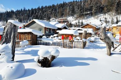 【A4冰雪盛宴·轻奢小团】<哈尔滨·亚布力·雪乡·雪地温泉·二人转·冰河雪谷·威虎寨>双飞5天团